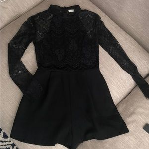 Lush Express Yourself Black Lace Romper